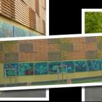 Fresque extérieure sur la chaufferie biomasse Camille Claudel, Palaiseau (juillet 2014)