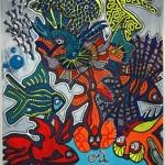 Le nouveau monde (2007, 150 x 242 cm)