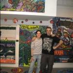 Agathon s'affiche aux côtés de Speedy Graphito, Musée en Herbe (juin 2011)
