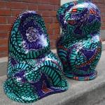 """""""Les Twins"""" Sculptures Résine extérieur"""