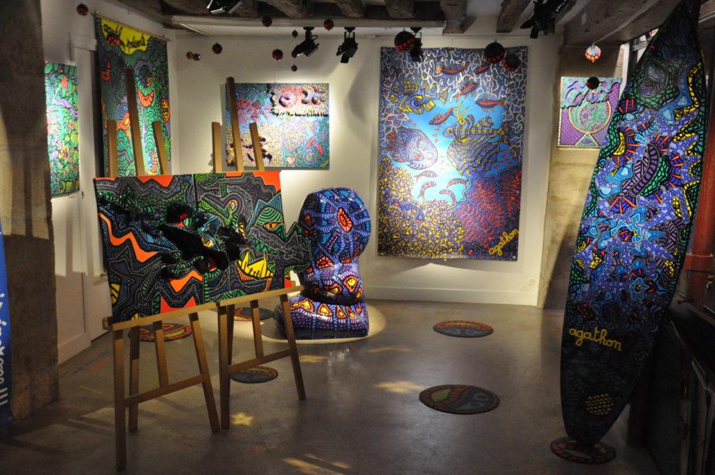 Exposition Agathon à la Galerie Lithium, 2018